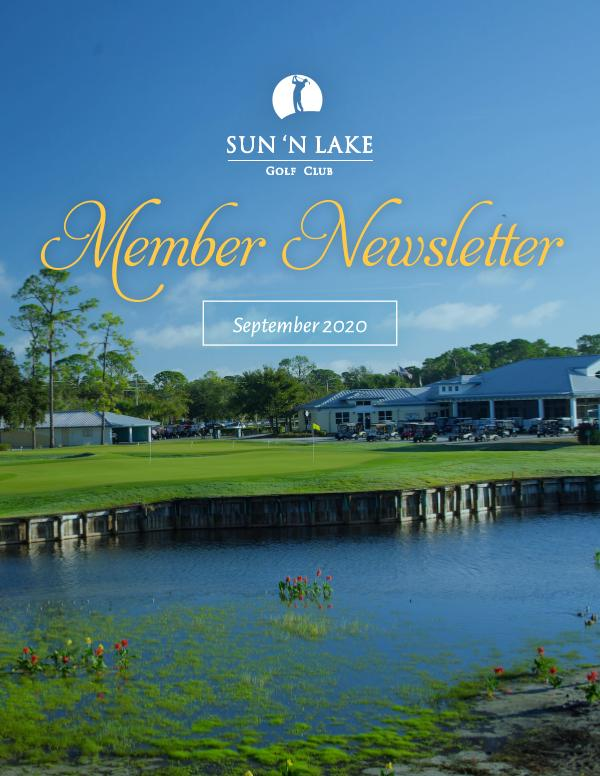 Sun N Lake September 20 Newsletter
