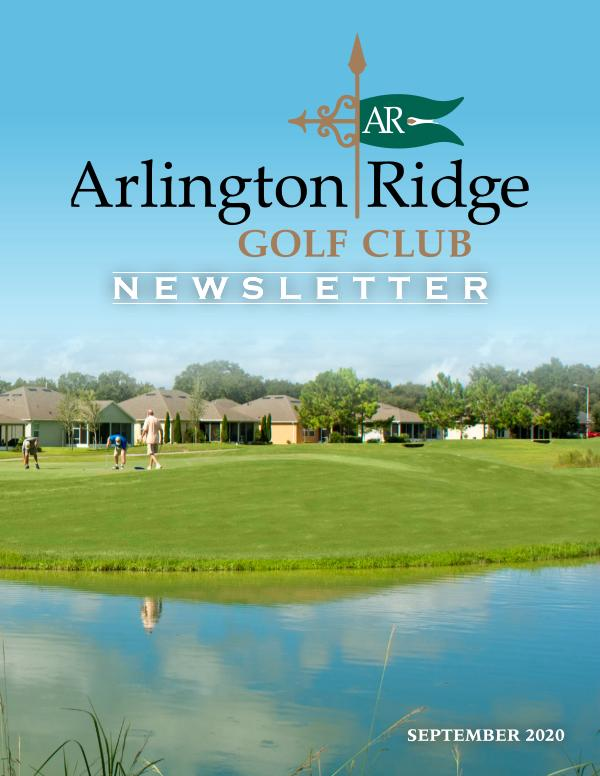 Arlington Ridge September 20 Newsletter