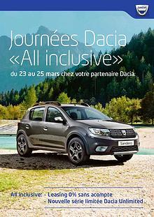 Journées Dacia «All inclusive»