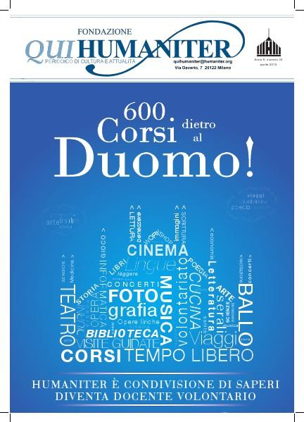 Qui Humaniter aprile 2015 | 600 corsi dietro al Duomo!