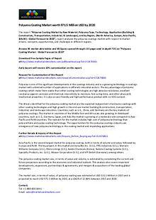 Polyurea Coating Market worth 971.5 Million USD by 2020