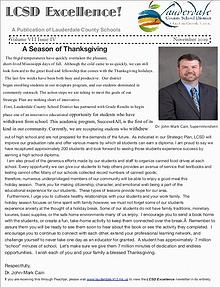 LCSD Excellence November 2019 Edition