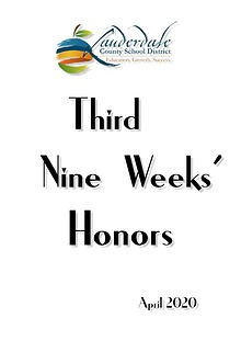 LCSD Third Nine Weeks' Honors 2020