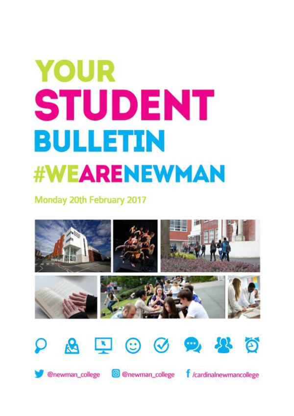 Student Bulletin 2016/17 Monday 20th February