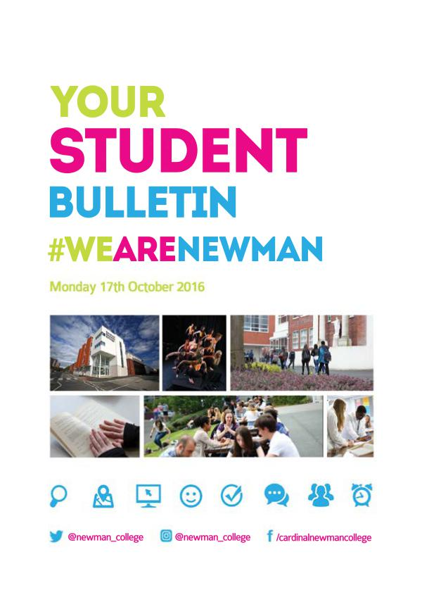 Student Bulletin 2016/17 Monday 17th October