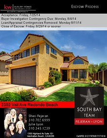 2302 Vail Ave Seller's Escrow Process