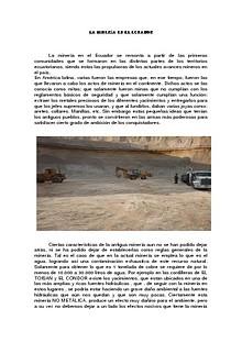 HISTORIA DE LA MINERIA DEL ECUADOR