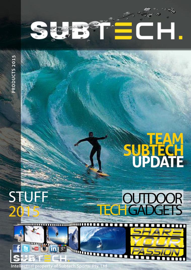 Subtech Sports Product Info Summe 2014 Summer 2014