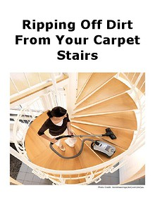 Ripping Off Dirt From Your Carpet Stairs