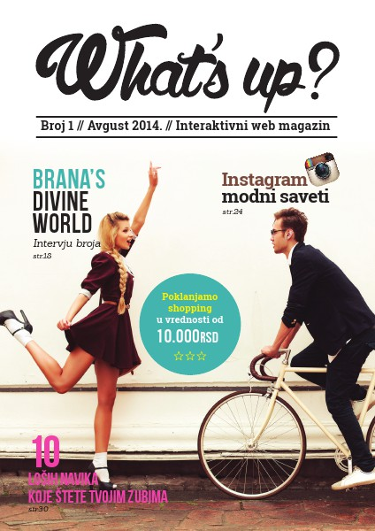 What's up web magazin Avgust 2014.