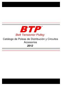 Catalogo de Tensores de Distribucion y Accesorios Oct-2012