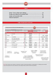 Catalogo de Aplicaciones de Bujias y Cables de Bujias NGK