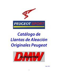 Catalogo de Llantas de Aleacion Originales Peugeot