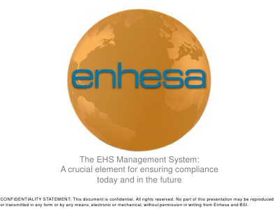 Webinars The EHS Management System