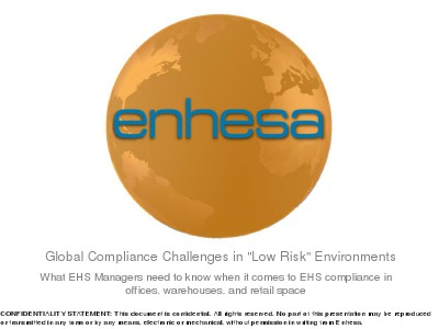 """Webinars Compliance Challenges in """"Low Risk"""" Environments"""