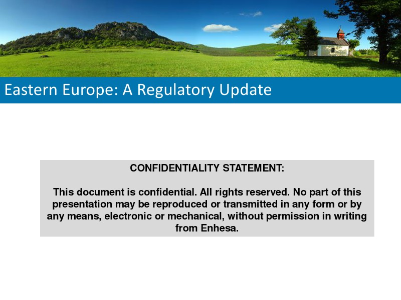Eastern Europe: A Regulatory Update