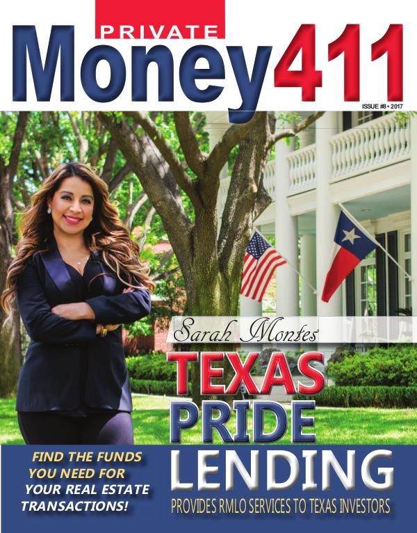 Private Money411 Magazine - The Source for Real Estate Finance Private Money411 Featuring Sarah Montes