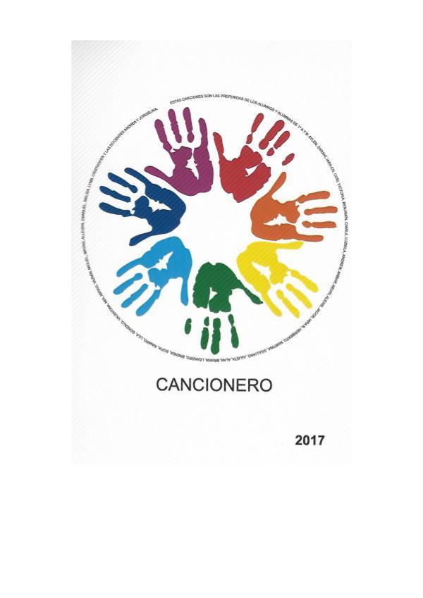 Cancionero 2017 cancionero