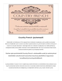 Country French -maalit