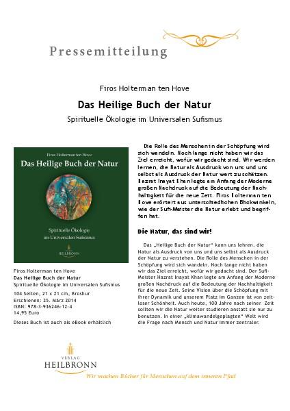 Das Heilige Buch der Natur (Pressemitteilung)