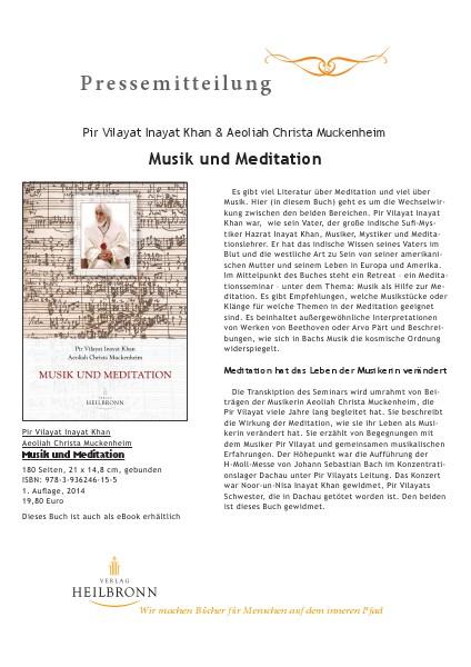 Musik und Meditation (Pressemitteilung)