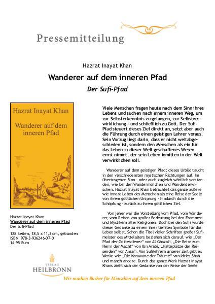 Wanderer auf dem inneren Pfad (Pressemitteilung)