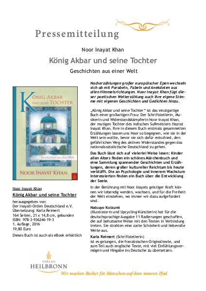 König Akbar und seine Tochter von Noor Inayat Khan