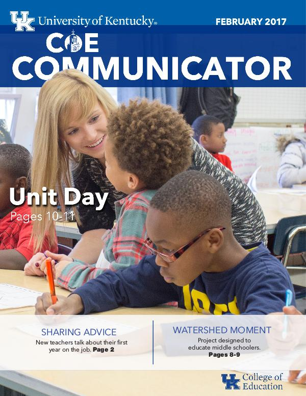 College of Education Communicator February 2017
