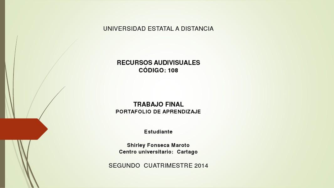 PORTAFOLIO DE APRENDIZAJE para prueba de formato.pdf Agosto 2014 Final