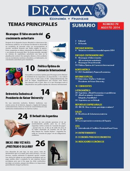 Revista Dracma | Edición Agosto