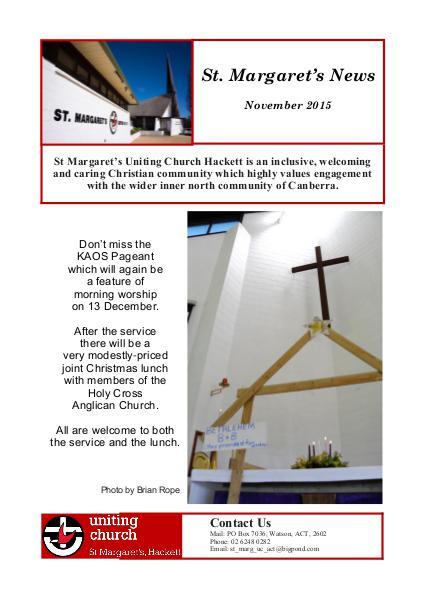 St Margaret's News November 2015