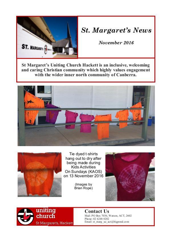St Margaret's News November 2016