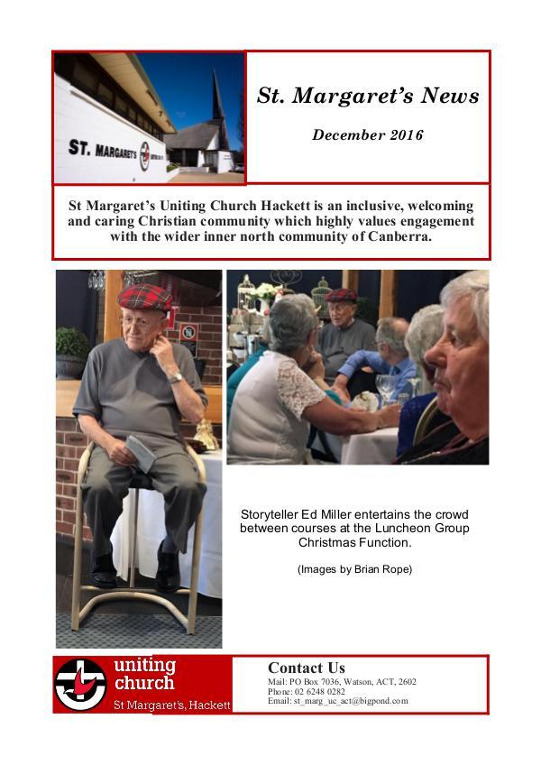 St Margaret's News December 2016