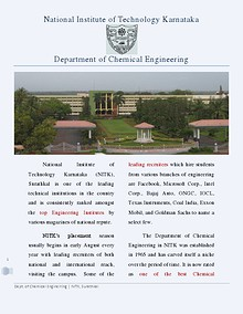 Brochure - Chemical Engineering, NITK