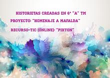 "Historietas de 6° ""A"" TM. Escuela Emilio Olive."