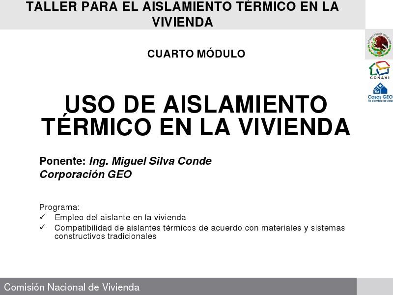 DESCARGAS ICF MEXICO Uso de Aislamiento Térmico en la Vivienda