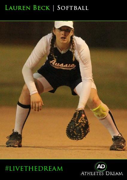 Athletes Dream Lauren Beck   Softball