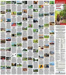 The County: Destinations, Events & Attractions Map