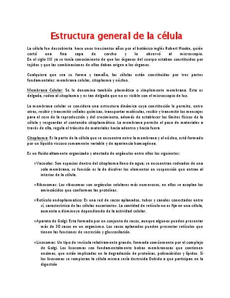 Estructura General De La Celula Pdf Aug 2014