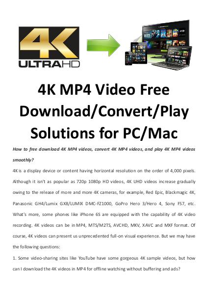 Multimedia Software 4K MP4 Video