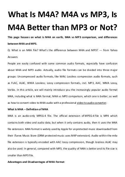 Multimedia Software What Is M4A