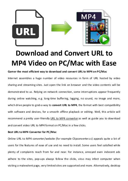 Multimedia Software URL to MP4