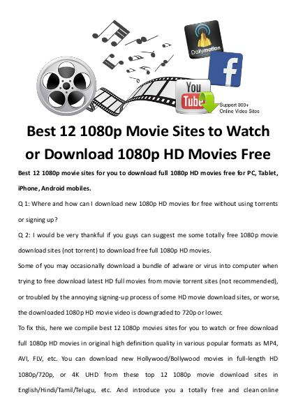 multimedia software tipsBest Fast AVI Joiner to Join Multiple AVI Fil Best 12 1080p Movie Sites to Watch or Download 1080p HD Movies Free