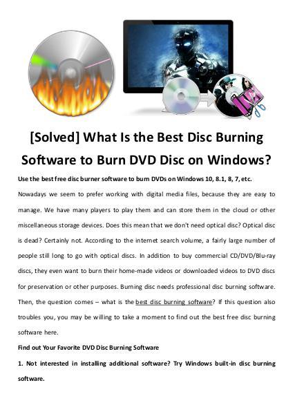 multimedia software tipsBest Fast AVI Joiner to Join Multiple AVI Fil [Solved] What Is the Best Disc Burning Software to Burn DVD Disc on W