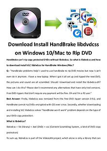 multimedia software tipsBest Fast AVI Joiner to Join Multiple AVI Fil Download Install HandBrake libdvdcss on Windows 10/Mac to Rip DVD