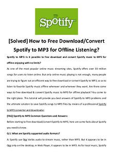 multimedia software tipsBest Fast AVI Joiner to Join Multiple AVI Fil [Solved] How to Free Download/Convert Spotify to MP3 for Offline List