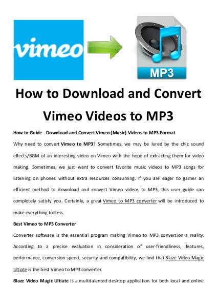 multimedia software tipsBest Fast AVI Joiner to Join Multiple AVI Fil How to Download and Convert Vimeo Videos to MP3