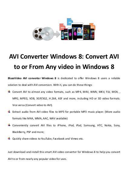 multimedia software tipsBest Fast AVI Joiner to Join Multiple AVI Fil AVI Converter Windows 8: Convert AVI to or From Any video in Windows