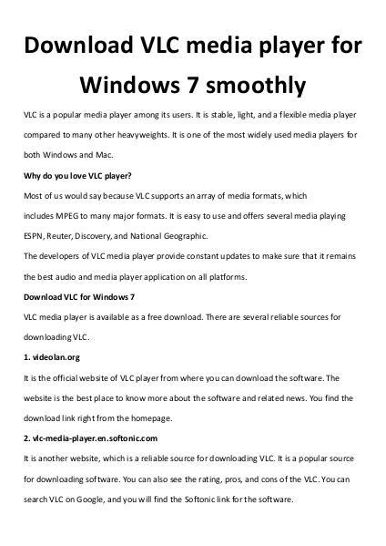 multimedia software tipsBest Fast AVI Joiner to Join Multiple AVI Fil Download VLC media player for Windows 7 smoothly