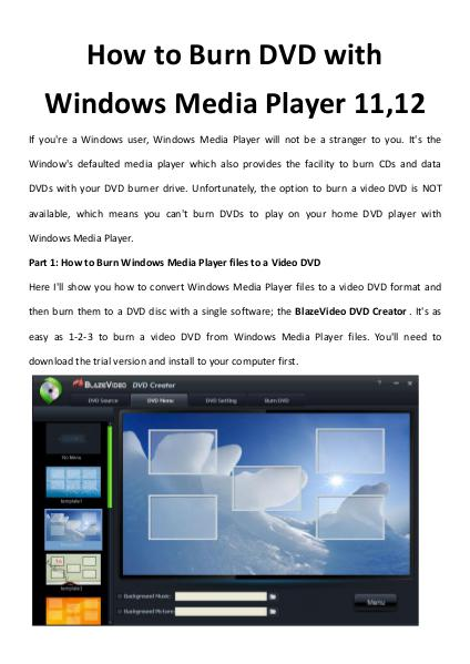 multimedia software tipsBest Fast AVI Joiner to Join Multiple AVI Fil How to Burn DVD with Windows Media Player 11,12
